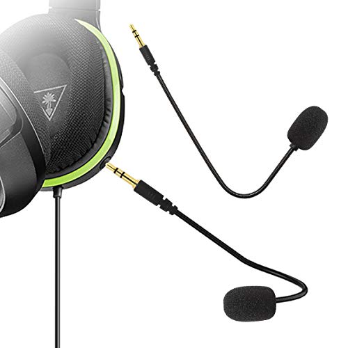Limvoo Replacement Microphone 3.5mm Game Mic Boom - PDP Afterglow AG 6 Wired Xbox One PS4 Gaming Headset-Turtle Beach Ear Force XO ONE Stealth 420X Recon 320 -
