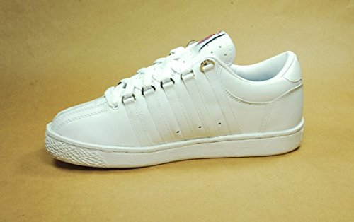 K-Swiss Youth Classic Leather Tennis Shoe Core - Black-7 M Yth