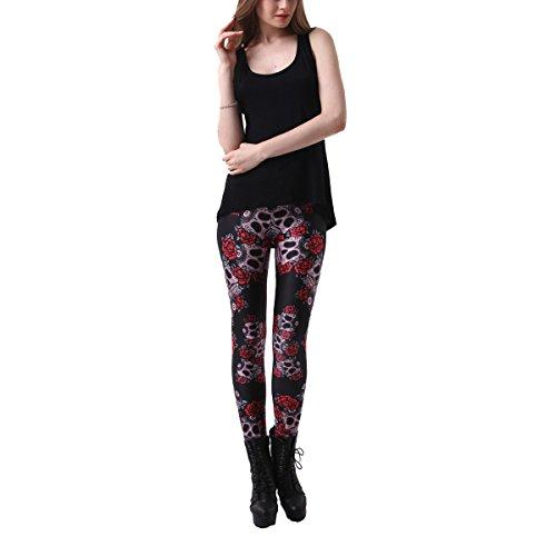 Noël Mesdames Filles Femmes Europe Et États-Unis Impression Numérique Slim  Yoga Pantalons Mémoires Leggings ccceff7060a