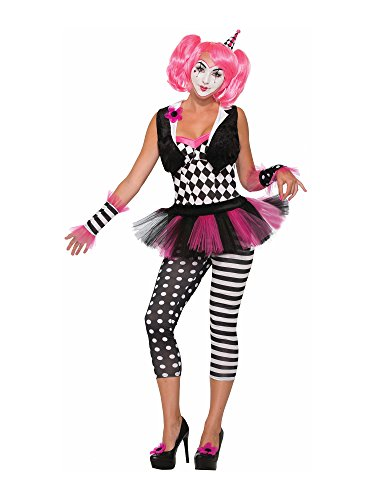 Sexy Adult Clown Costumes (Forum Novelties Women's Sexy Harlequin Tricksy the Clown Adult Size M-L (8-12))