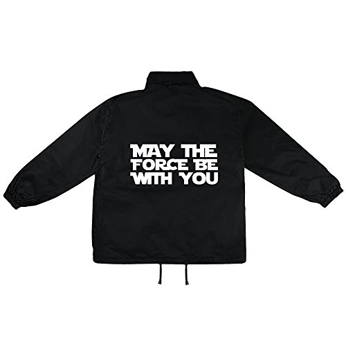 May the force be with you Motiv auf Windbreaker, Jacke, Regenjacke, Übergangsjacke, stylisches Modeaccessoire für HERREN, viele Sprüche und Designs