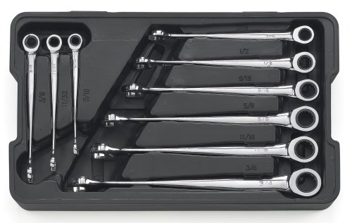 GEARWRENCH 85898 9 Piece X-Beam Ratcheting Combination Wrench Set SAE
