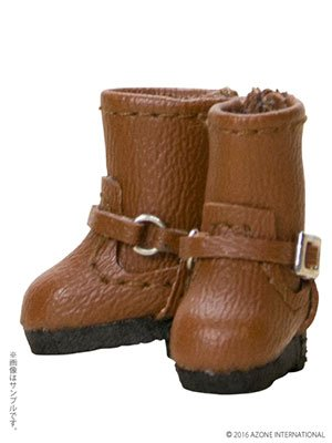 (Picco Neemo Wear 1/12 Double Buckle Boots / Brown (Doll Accessory))