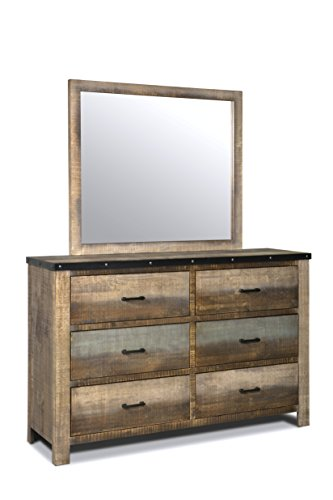 Coaster Home Furnishings 205094 Dresser Mirror Antique Multi-Color