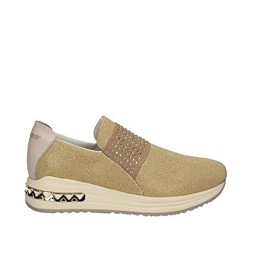 377 bajo NOIR deslizamiento sheakers DA945 mujer CAF de plata zapatos CAFèNOIR Platino elástica sobre gwBT7