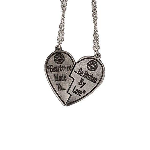 Him heartagram love metal broken heart pendant necklace set of 2 him heartagram love metal broken heart pendant necklace set of 2 chains buy online in ksa apparel products in saudi arabia aloadofball Choice Image