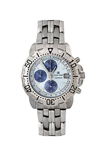 Oskar Emil Gents Casieum White Chronograph Stainless Steel Sports Watch