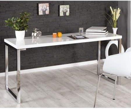 Sala De Estar Diseño Mesa Escritorio Blanco Alto Brillo Blanco ...