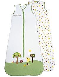 Slumbersafe Summer Toddler Sleeping Bag 1 Tog - Forest Friends, 18-36 months/LARGE
