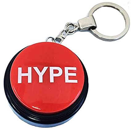 HYPE2Go: Keychain Hype Button | Hip Hop Air Horn Sound Effect Button (BATTERIES INCLUDED)