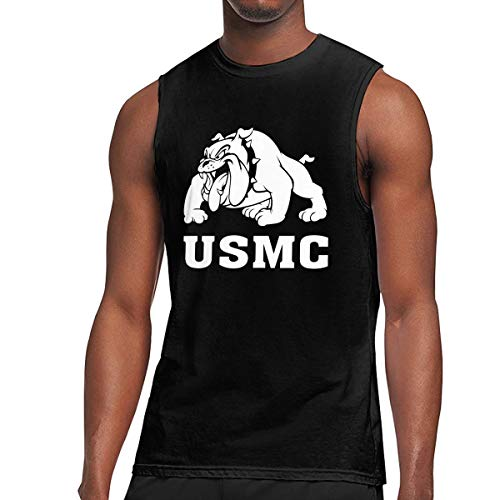 Usmc Marine Bulldog T-shirt Top - Men's Marine Bulldog-USMC Tank Tops Fitness T-shirt Gym Muscle Bodybuilding T-shirt
