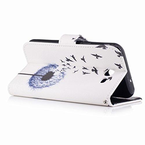 Yiizy Samsung Galaxy J3 Prime Custodia Cover, Tarassaco Design Sottile Flip Portafoglio PU Pelle Cuoio Copertura Shell Case Slot Schede Cavalletto Stile Libro Bumper Protettivo Borsa