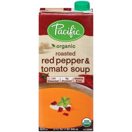 PACK OF 10 - Pacific Organic Roasted Red Pepper & Tomato Soup 32 fl. oz. Carton