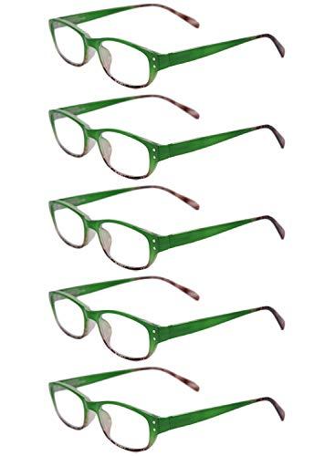 0 1 de Inlefen 2 3 0 Vert retro 0 pack fashion 5 lecture full 1 3 lunettes 5 5 2 frame 5 Unisexe HZrxwZ6q8v
