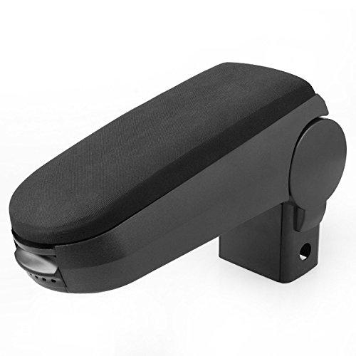 (Comfortable Carbon Black Center Console Armrest Box For 1999-2004 Volkswagen Bora Golf Jetta Hot)