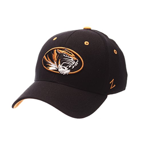 NCAA Missouri Tigers Men's ZH Stretch Fit Cap, Black, Medium/Large