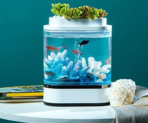 0BEST 水槽セット アクアリウム 金魚鉢 魚飼育セット 金魚のお部屋 7つLEDライト内蔵 フィルター付 熱帯魚 小型水族館 省エネ 静音