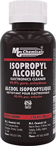MG Chemicals 99.9% Isopropyl Alcohol Electronics Cleaner, 125 mL Bottle ()