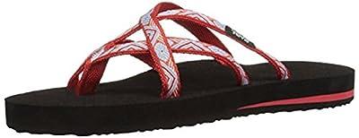 Teva Women's W Olowahu Sandal (6 B(M) US/37 EUR, sland Red)