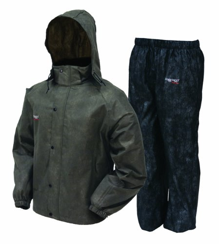Frogg Toggs AS1310-105LG All Sport Rain Suit, Large, Stone/Black
