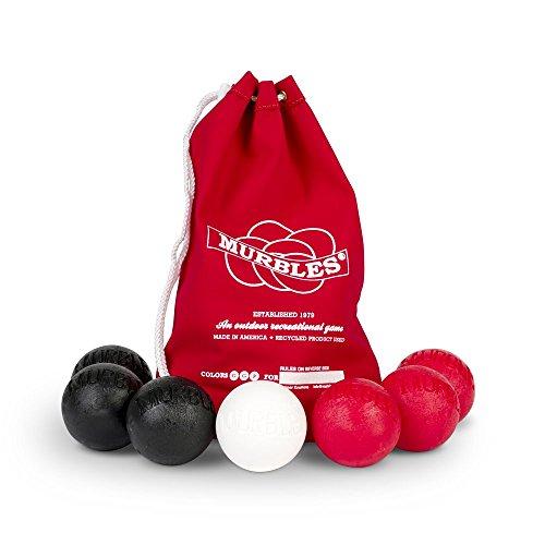 Standard 7 ball black & red 2 player Murble set. by Murbles Kramer Kreations