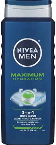 NIVEA Men Maximum Hydration 3 in 1 Body Wash 16.9 Fluid Ounce