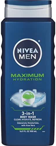 NIVEA Men Maximum Hydration 3 in 1 Body Wash 16.9 Fluid Ounce