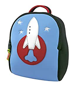 Dabbawalla Bags Preschool Toddler Backpack, Out of this World Rocket