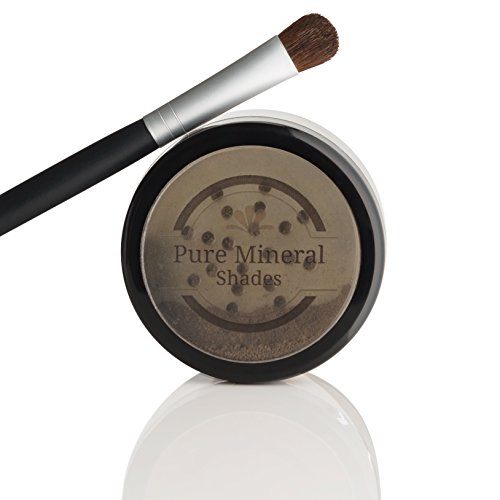 Root Touch Up Powder, All-Natural Luxury Root Concealer With Brush, Crushed Minerals, Fast and Easy Total Grey Hair Cover Up For Dark, Brown and Blonde Hair .32 Ounce (Dark Brown) by Pure Mineral Shades