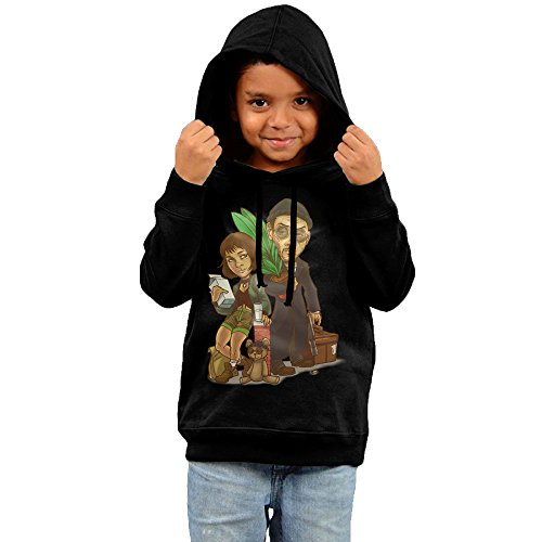 Leon The Professional Costume (KYY Kid's Leon-The Professional Unisex Hoodies Black Size 3 Toddler)