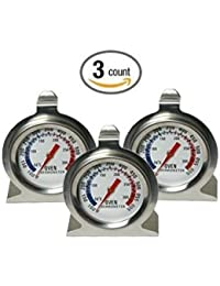 Win (3 Pack) Oven Thermometer, Stainless Steel, 100 to 600 Degrees F Temperature Range, 3