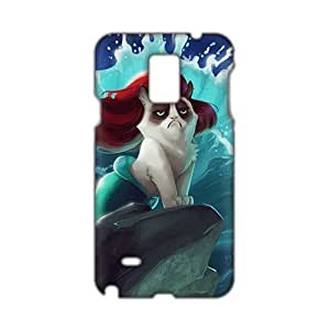 Red hair cat mermaid 3D Phone For SamSung Galaxy S4 Case Cover