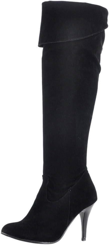ღLILICATღ Zapatos de Mujer Botines Zapatos de Mujer Tacones Altos Botas de Mujer sobre la Rodilla Señoras Otoño Tramo Faux Delgado Alto Botas Moda Nieve Botas largas Calzado de Invierno Cálido: Amazon.es: