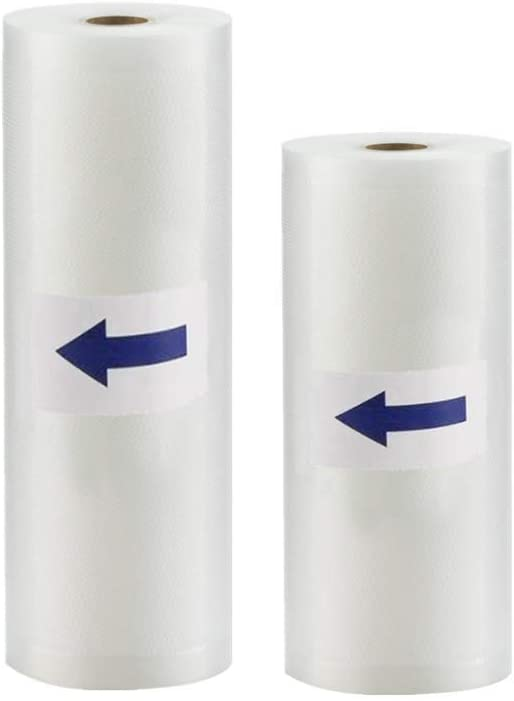 "Vacuum Sealer Bags, 2 Rolls 11"" x 50' and 8"" x 50' Commercial Grade Sealer Saver Rolls for Foodsaver and Sous Vide"