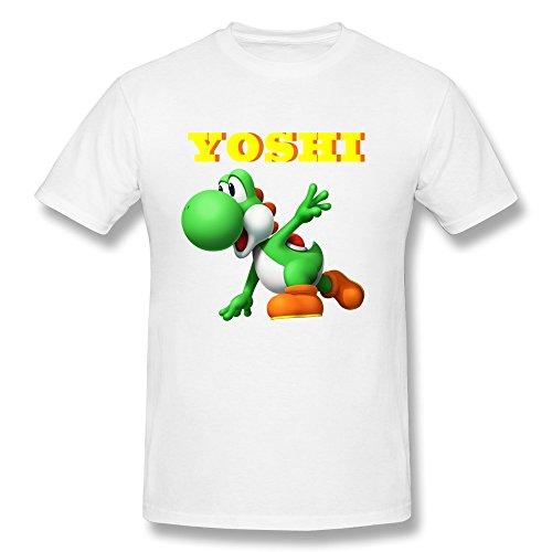Price comparison product image ZHUYOUDAO Custom Super Mario Yoshi Shirts For Mens White XS