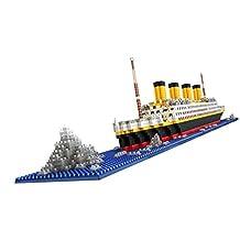 Generic 1860pcs Grand Titanic Building Blocks Kit Ship Model Assembly Block Kids Toy