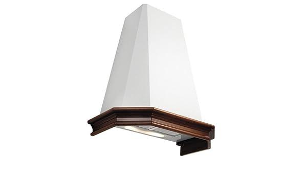 Falmec – Campana extractora con ángulo Penta acabado estructura en relieve blanco de 100 cm y altura de 60/86 cm con potencia 450 M3/H: Amazon.es