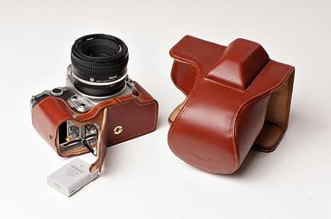 La mitad inferior de cuero cubierta de bolsa caso de Cámara para Nikon 1 J5