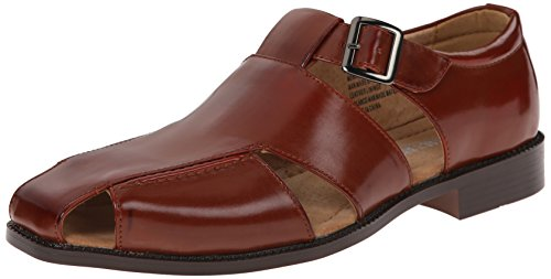 Stacy Adams Men's Catalina Dress Sandal, Cognac, 10 M US