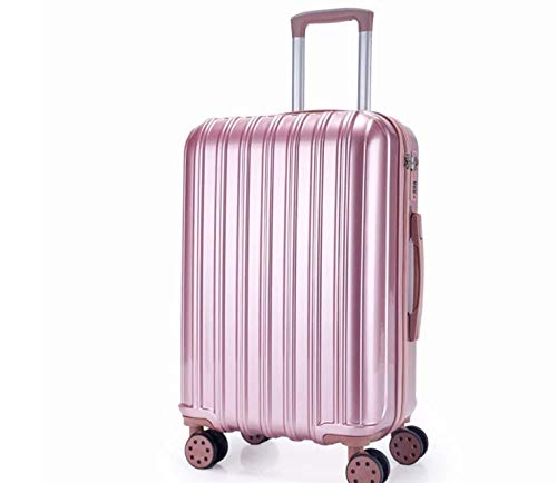 Absトロリーケースユニバーサルホイール学生スーツケース男性パスワードボックス女性スーツケース荷物 (Color : ローズゴールド, Size : 24) 24 ローズゴールド B07QHW9R1M