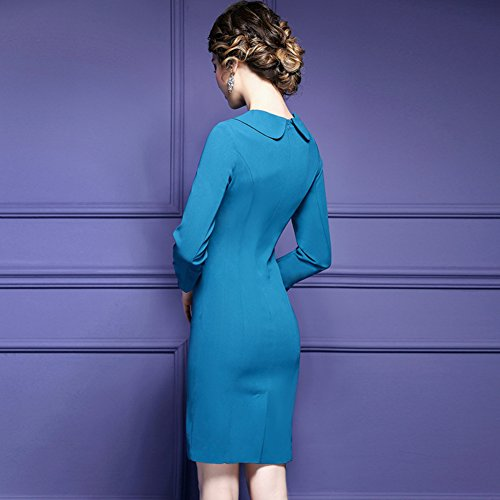 Cotylédons Women`s Robe De Bal Formelle Cou Cravate Robe Moulante