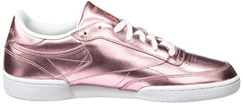 Femme White Chaussures de Gymnastique Rose 85 Copper 000 Shine C S Club Reebok w8qgOTg