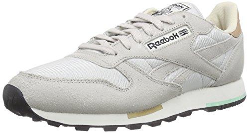 Reebok Classic Leather Casual, Sneakers da Uomo Beige (Steel/Walnut/Black/Paperwhite/Mint Glow/Chalk)