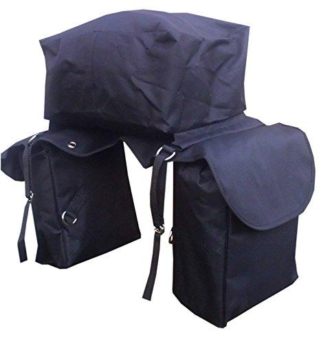 Pferde Packtasche TakeOff Trail 3in1 wasserabweisend als 2fach oder 3fach Satteltasche verwendbar schwarz