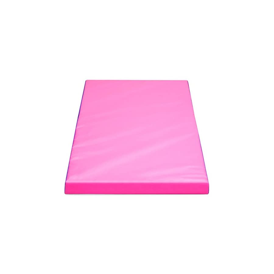 Best Choice Products Folding Gymnastics Incline Mat Cheese Wedge Skill Shape Tumbling Mat