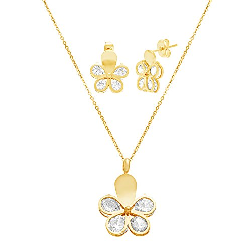 gold-tone-stainless-steel-crystal-butterfly-18-cable-chain-necklace-and-earring-gift-set