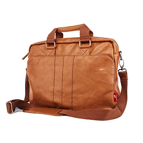 (Leather Briefcase for Men fit 15.6 inch Laptop Travel Shoulder Messenger Bag Handbag Artificial)
