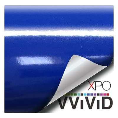 VVIVID XPO Glossy Dark Navy Blue Vinyl Car Wrap Film DIY Easy to Install No-Mess Decal (1ft x 5ft): Arts, Crafts & Sewing