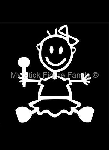 10 opinioni per Ufficiale My Stick Figure Family vinile adesivi auto bebè femmina BG1