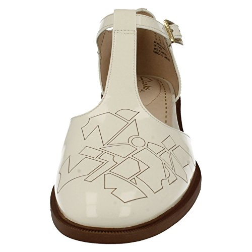 Clarks Taylor Palm, Women's Wedge Heels Sandals Off white